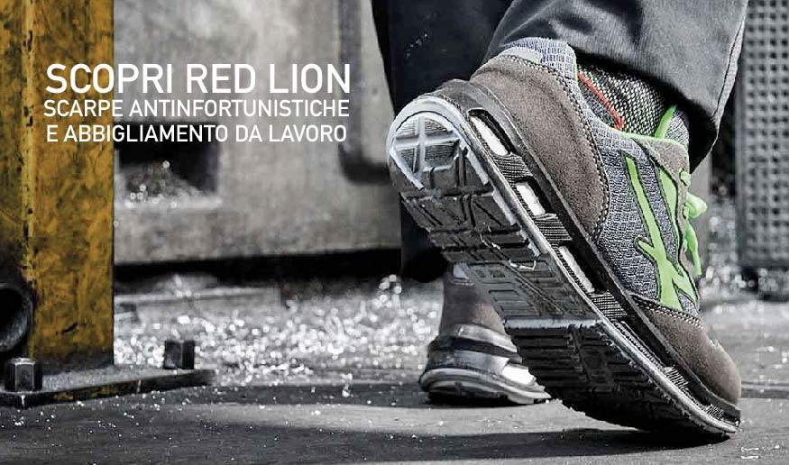 scarpe upower antinfortunistica red lion